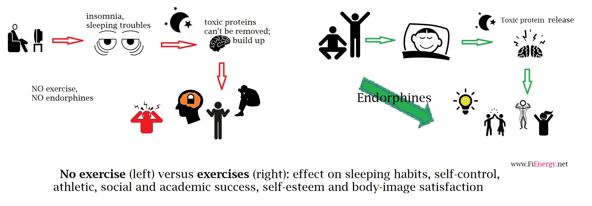 no exercise vs exercise_graphc
