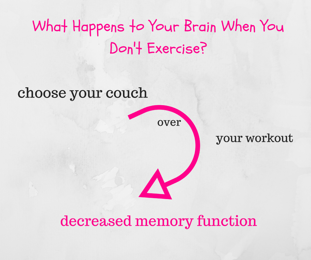 Inactivity and decreased memory function