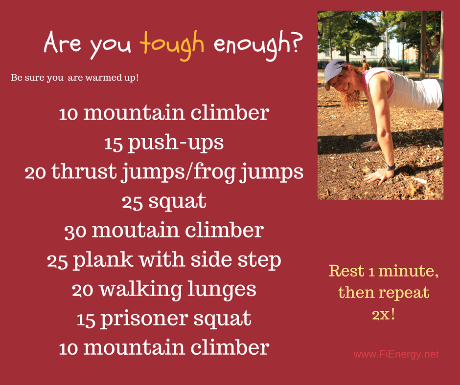 Are you tough enough for this full-body workout? Test your fitness. Coach Yvi, Fitness trainer & health coach, Vienna, Austria