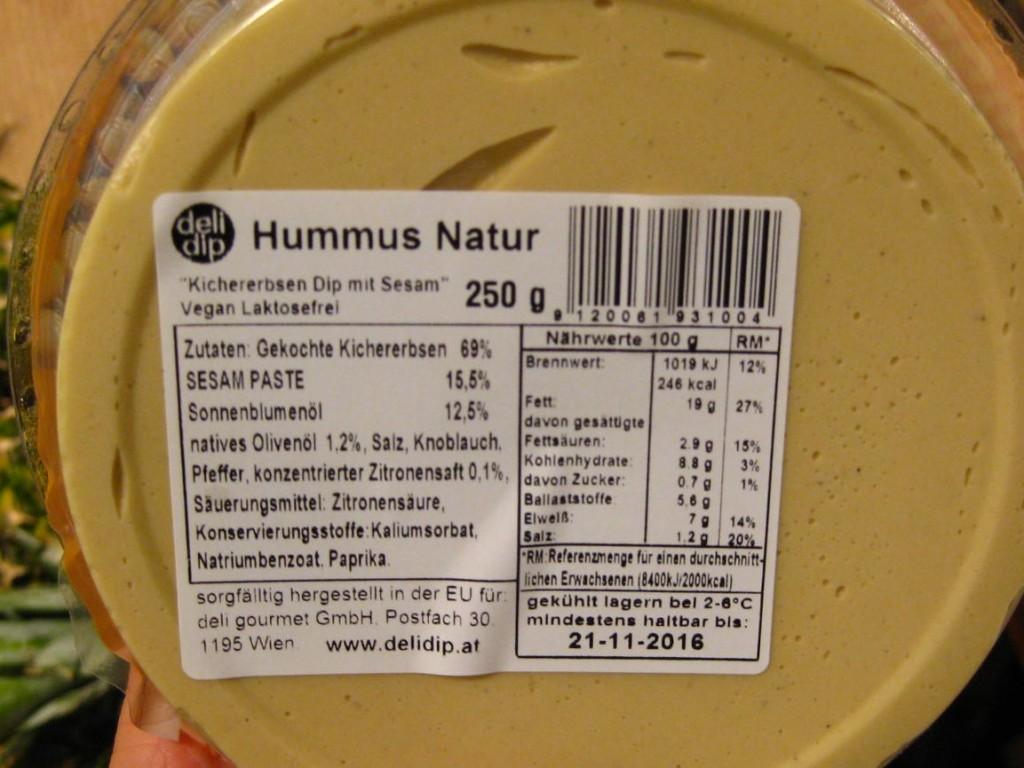 hummus-natur zutaten