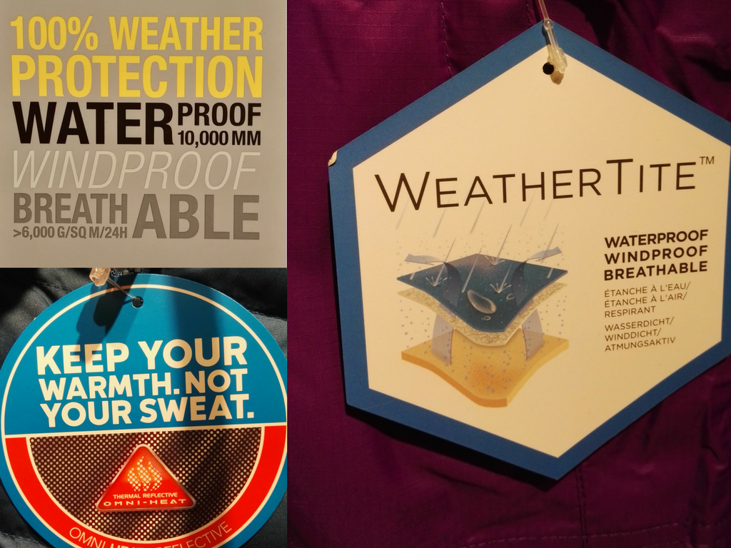 weather protection, signs, labels, clothing
