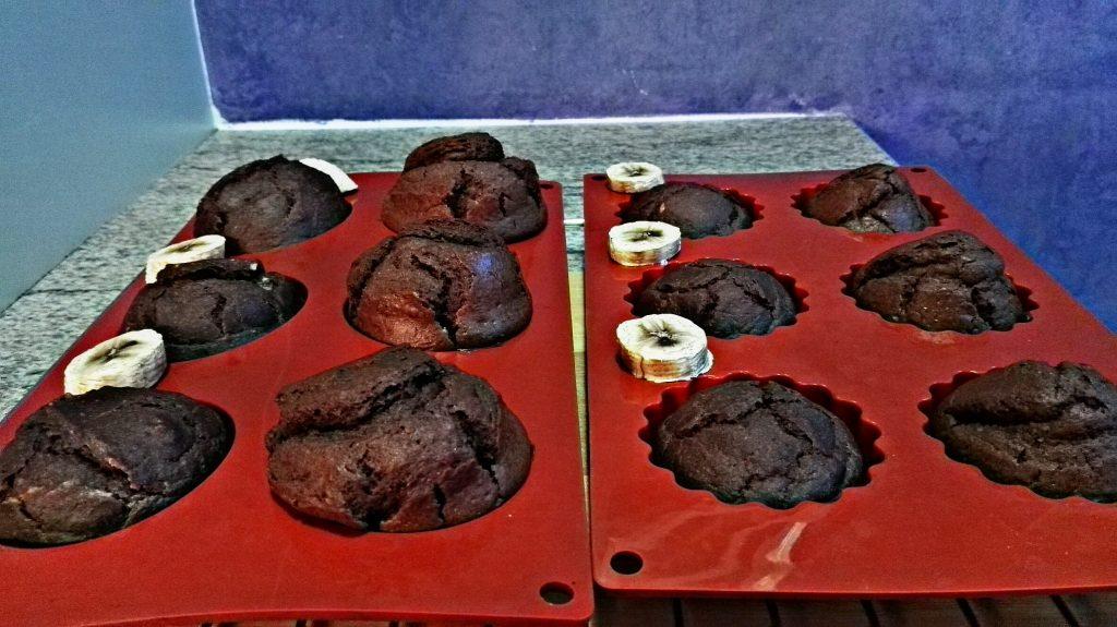 Schoko muffins, becher kuchen