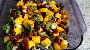 ingredients black bean mango salad