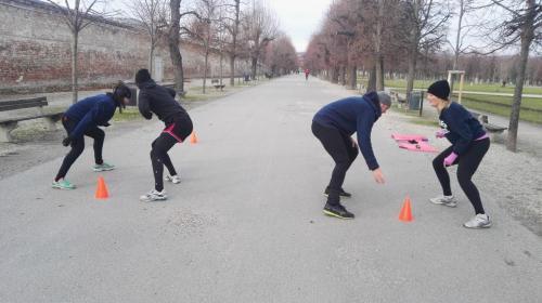 Gruppenworkout, Outdoor group workout, Augarten, Wien, Coach Yvi