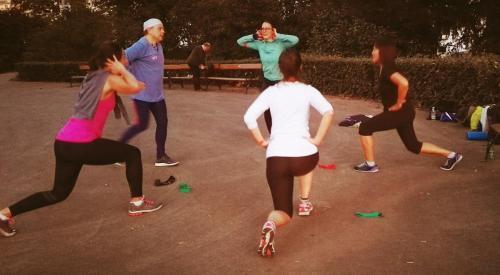 Gruppenworkout, Fitness Camp, Stadtpark, Wien, Coach Yvi